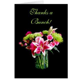Dankt einem Bündel, Stargazer-Lilien-Blumenstrauß Karte