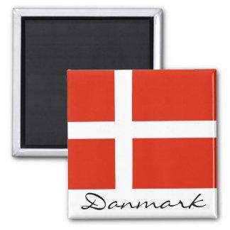 Danmark mit Dannebrog Quadratischer Magnet