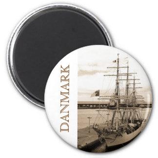 Danmark Runder Magnet 5,7 Cm