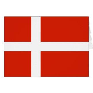 Dannebrog; Die offizielle Flagge von Dänemark Karte