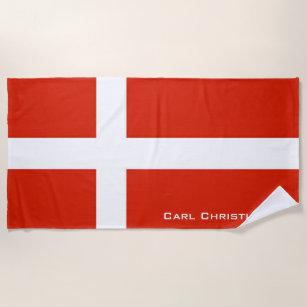 Dannebrog; Die offizielle Flagge von Dänemark Strandtuch