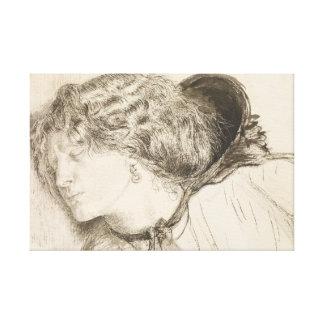 Dante Gabriel Rossetti - gefunden - Studie für den Leinwanddruck