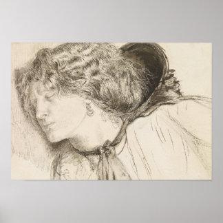 Dante Gabriel Rossetti - gefunden - Studie für den Poster