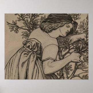 Dante Gabriel Rossetti - König Rene Honeymoon Poster