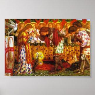 Dante Gabriel Rossetti malt Sir Galahad Poster