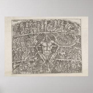 Dantes Inferno von Boccelli Poster
