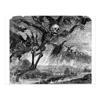 Dantes Tod in der Himmelpostkarte Postkarten
