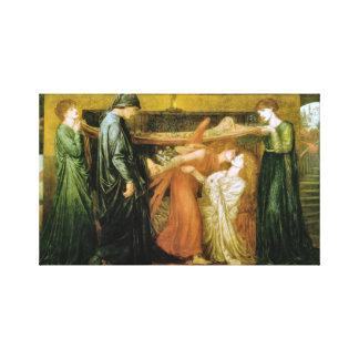 Dantes Traum zu der Zeit des Todes von Beatrice Leinwanddruck