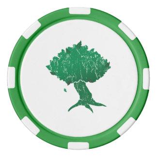 DAoC Hibernia Lehm-Poker-Chips, grüner gestreifter Poker Chip Set