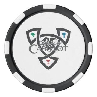 DAoC Knoten-Lehm-Poker-Chips, schwarzer Pokerchips