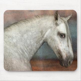 Dapple graues andalusisches Pferdeporträt Mauspads