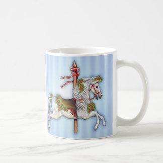 Dapple graues Karussell-Pferd Kaffeetasse