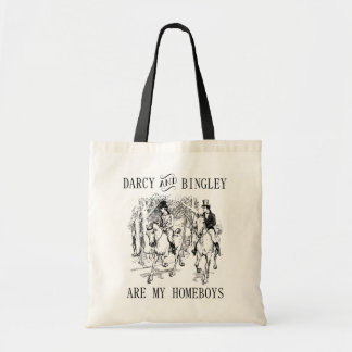 Darcy u. Bingley Homeboys-Janes Austen Tragetasche