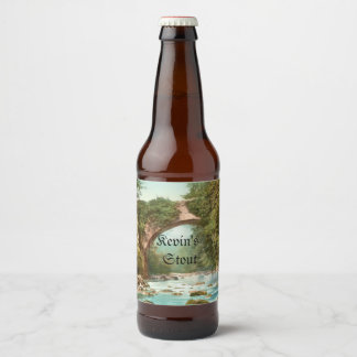 Dargle Brücke in Irland personalisiert Bierflaschenetikett