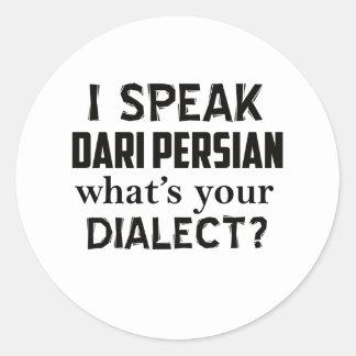 Dari-Perser-Afghanistan-Dialektentwurf Runder Aufkleber