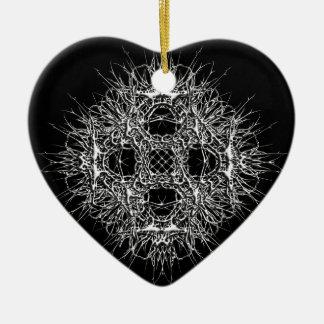 dark 666 keramik Herz-Ornament