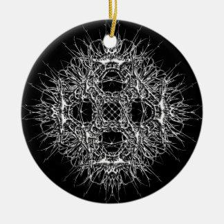 dark 666 rundes keramik ornament