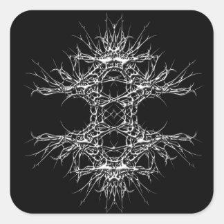 dark art quadratischer aufkleber