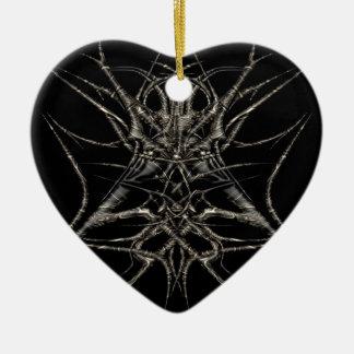 dark gold keramik Herz-Ornament