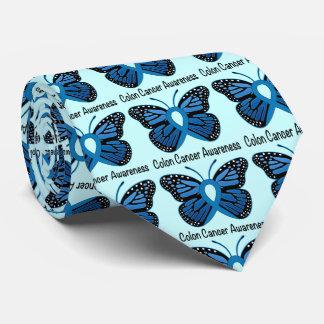 Darmkrebs-Bewusstsein: Schmetterling Krawatte