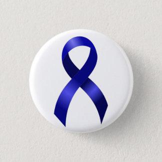 Darmkrebs-blaues Band Runder Button 3,2 Cm