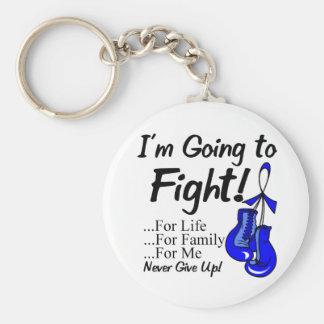 Darmkrebs werde ich kämpfen standard runder schlüsselanhänger