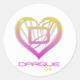 DarQue Girlz StickRz Runder Aufkleber