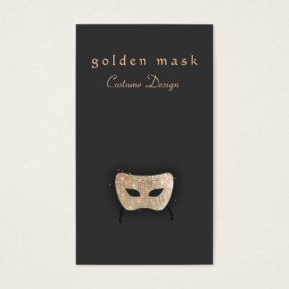 Darstellende Kunst-Goldsequin-Maske Visitenkarte