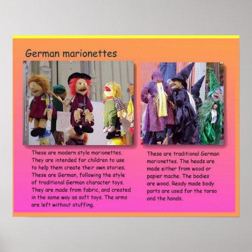Darstellende Künste, deutsche Marionetten Posterdruck