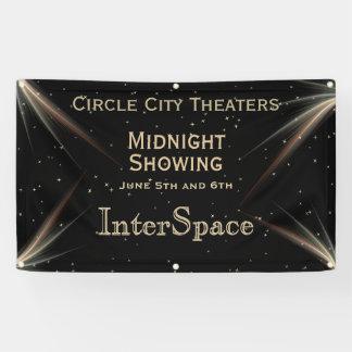 Darstellende Raum-Thema-Mitternachtswerbung Banner