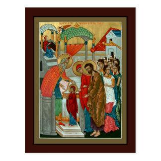 Darstellung der Theotokos Gebets-Karte Postkarte