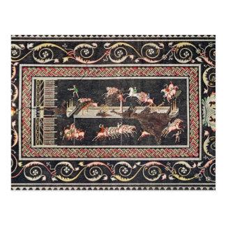 Darstellung eines Mosaiks Postkarte