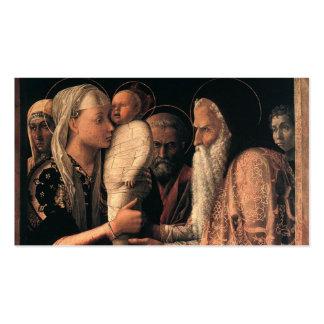 Darstellung von Christus im Tempel C. 1465-66 Visitenkarten