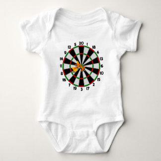 Dartboard-Bullauge Baby Strampler