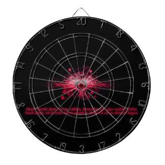 Dartboard Herz Pink und Schwarz Dartscheiben