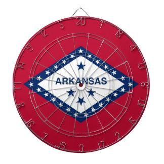 Dartboard mit Flagge von Arkansas, USA Dartscheibe