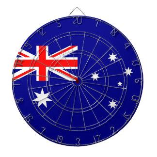 Dartboard mit Flagge von Australien Dartscheibe