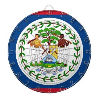 Dartboard mit Flagge von Belize Dartscheibe