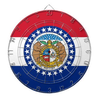 Dartboard mit Flagge von Missouri, USA Dartscheibe