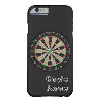 Dartboard-Namensmonogramm Barely There iPhone 6 Hülle