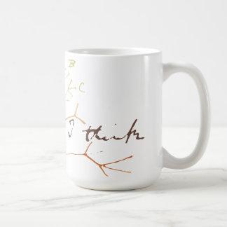 Darwin-Baum des Lebens: Ich denke Kaffeetasse