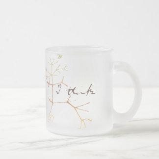 Darwin, denke ich Baum an das Leben Matte Glastasse
