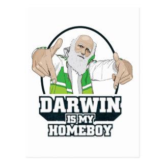 Darwin ist mein Homeboy (farbenreich) Postkarte