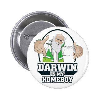 Darwin ist mein Homeboy (farbenreich) Runder Button 5,7 Cm