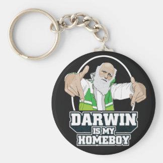 Darwin ist mein Homeboy (farbenreich) Standard Runder Schlüsselanhänger