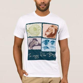 Darwin, The Voyage, of the Beagle. Woman t-shirt