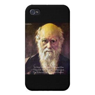 """Darwin""""Wert von Leben"""" Klugheits-Zitat-Geschenke Schutzhülle Fürs iPhone 4"""