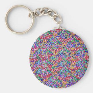 Das 100 Entwurfs-Muster-Juwel-Farbe schattiert Schlüsselanhänger