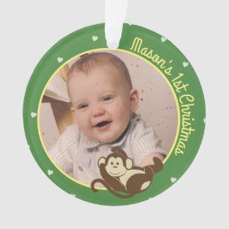 Das 1. Weihnachten des Affe-Babys Ornament