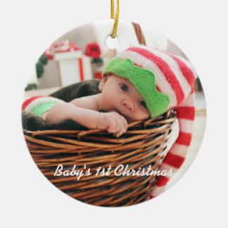 Das 1. Weihnachten des Babys - Keramik Ornament